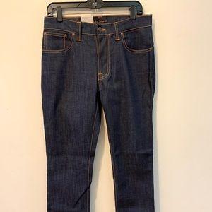 Nudie jeans thin finn ecru embo NWT